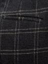 Брюки клетчатые из плотной ткани oodji для женщины (синий), 21706024-2/47262/7925C