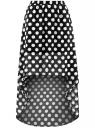 Юбка шифоновая с асимметричным низом oodji для женщины (черный), 13G00010B/35271/2912D