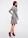 Платье вязаное с расклешенным низом oodji для женщины (серый), 63912223/46096/2500M - вид 3