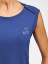 Платье из ткани пике oodji #SECTION_NAME# (синий), 14005074-1/45602/7500N - вид 5