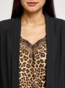 Жакет без застежки с рукавом 3/4 oodji для женщины (черный), 11207010-2B/18600/2900N