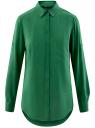 Блузка базовая из вискозы с карманами oodji #SECTION_NAME# (зеленый), 11400355-4/26346/6E00N