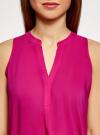 Топ базовый из вискозы oodji для женщины (розовый), 14911008-1B/48756/4701N - вид 4