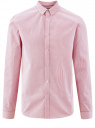 Рубашка принтованная из хлопка oodji #SECTION_NAME# (розовый), 3B110027M/19370N/1045G