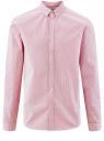Рубашка принтованная из хлопка oodji для мужчины (розовый), 3B110027M/19370N/1045G