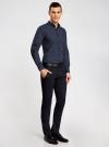 Рубашка принтованная с длинным рукавом oodji #SECTION_NAME# (синий), 3L310137M/19370N/7949G - вид 6