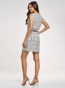 Платье принтованное из вискозы oodji #SECTION_NAME# (белый), 11910073/26346/1229O - вид 3