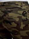 Джинсы милитари с отстрочками oodji #SECTION_NAME# (зеленый), 12104074/47745/2966O - вид 5