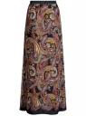 Юбка макси из струящейся ткани oodji для женщины (черный), 13G00002-2M/32823/2933E