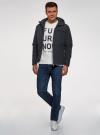 Куртка на молнии с капюшоном oodji #SECTION_NAME# (синий), 1L515017M/46215N/7929N - вид 6