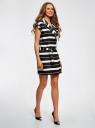 Платье двубортное на поясе oodji для женщины (черный), 11905030/45417/2912S