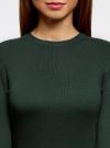 Платье базовое с рукавом 3/4 oodji для женщины (зеленый), 63912222-1B/46244/6E00N - вид 4