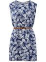 Платье вискозное без рукавов oodji #SECTION_NAME# (синий), 11910073B/26346/7930O