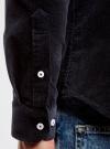 Рубашка slim из вельвета oodji #SECTION_NAME# (синий), 3L110218M/44424N/7900N - вид 5