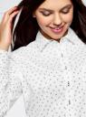 Рубашка базовая из хлопка oodji #SECTION_NAME# (белый), 13K03007B/26357/1029O - вид 4