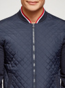Куртка-бомбер с воротником-стойкой oodji #SECTION_NAME# (синий), 5L911045M/44111N/7900N - вид 4