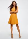 Платье из плотной ткани с овальным вырезом oodji для женщины (желтый), 11907004-2/31291/5200N - вид 6