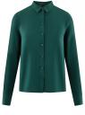 Блузка базовая из вискозы oodji #SECTION_NAME# (зеленый), 11411136B/26346/6E02N