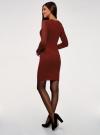 Платье вязаное базовое oodji для женщины (красный), 73912217-2B/33506/4900N - вид 3