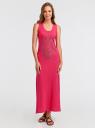 Платье макси с черепом из страз oodji #SECTION_NAME# (розовый), 14005134/45204/4D91P - вид 2