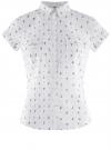 Рубашка хлопковая с нагрудными карманами oodji #SECTION_NAME# (белый), 11402084-3B/12836/1029Q