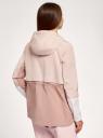 Парка облегченная с капюшоном oodji для женщины (розовый), 10303063/24058/4B4BB