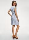 Платье льняное с коротким цельнокроеным рукавом  oodji для женщины (белый), 12C13012/16009/1075F