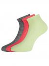 Комплект из трех пар ажурных носков oodji для женщины (разноцветный), 57102709T3/48022/13 - вид 2