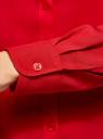 Блузка базовая из вискозы oodji для женщины (красный), 11411136B/26346/4502N