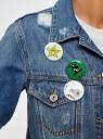 Куртка джинсовая со значками oodji #SECTION_NAME# (синий), 11109031/46654/7500W - вид 5