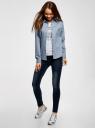 Рубашка джинсовая принтованная oodji #SECTION_NAME# (синий), 16A09003-3/47735/7912G - вид 6