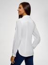 Рубашка хлопковая с нагрудным карманом oodji #SECTION_NAME# (белый), 13K03014/18193/1000B - вид 3