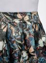 Юбка расклешенная из атласной ткани oodji для женщины (синий), 11600388-3/24393/7419U