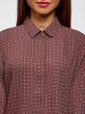 Блузка базовая из струящейся ткани oodji #SECTION_NAME# (красный), 11400368-8B/48854/4930G - вид 4