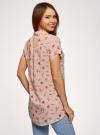 Блузка из вискозы с нагрудными карманами oodji #SECTION_NAME# (розовый), 11400391-5B/48756/4041O - вид 3