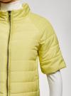 Куртка стеганая с короткими рукавами oodji для женщины (желтый), 10207003/45420/5001N - вид 5