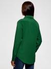 Блузка прямого силуэта с нагрудным карманом oodji #SECTION_NAME# (зеленый), 11411134B/46123/6E00N - вид 3