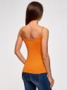 Майка базовая на бретелях oodji для женщины (оранжевый), 14305023-3B/46866/5500N