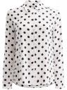Блузка вискозная прямого силуэта oodji #SECTION_NAME# (белый), 11411098-3/24681/1279D