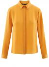 Блузка из струящейся ткани oodji #SECTION_NAME# (оранжевый), 11400368-3/32823/5200N