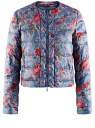 Куртка стеганая с принтом oodji #SECTION_NAME# (синий), 10203050-1M/42257/7545F