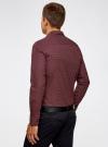 Рубашка принтованная с длинным рукавом oodji #SECTION_NAME# (красный), 3L310137M/19370N/4930G - вид 3
