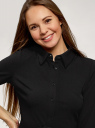 Платье трикотажное с ремнем oodji для женщины (черный), 14011063/49851/2900N