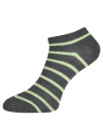 Комплект укороченных носков (6 пар) oodji для женщины (разноцветный), 57102433T6/47469/19S8S