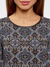 Платье с карманами и отделкой из искусственной кожи oodji #SECTION_NAME# (черный), 12C02003/43299/2979E - вид 4