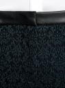 Брюки стретч с поясом из искусственной кожи oodji для женщины (зеленый), 11708080-2/43710/6E29J