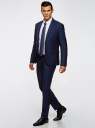 Пиджак приталенный с декоративной отделкой oodji #SECTION_NAME# (синий), 2L420211M/47308N/7975O - вид 6