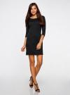 Платье трикотажное с рукавом 3/4 oodji для женщины (черный), 24001100-3/45284/2900N - вид 6