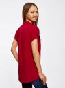 Блузка из вискозы с нагрудными карманами oodji для женщины (красный), 11400391-3B/24681/4500N