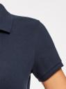 Поло базовое из ткани пике oodji для женщины (синий), 19301001-1B/46161/7900N